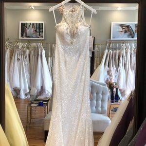 MacDuggal formal dress size 4 in diamond white